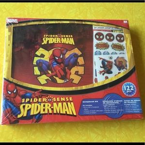 Marvel Spider-Man scrapbook kit. NIB